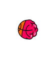basketball brain logo icon vector image vector image