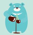 bear coffee vector image vector image