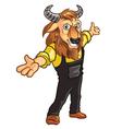 Bison Mascot vector image vector image