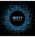 Blue confetti circle New Year 2017 background vector image vector image