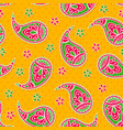 bright seamless with paisley pattern vector image vector image