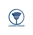 broom cleaning services logo design vector image vector image