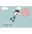 businessman jump to target vector image