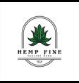 cannabis vintage logo vector image vector image