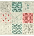 Christmas Seamless Background Set on Crumple Paper vector image
