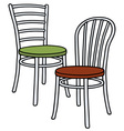 Classic light chairs vector image