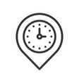 clock and pin place location and timer icon vector image vector image