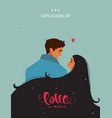 couple cute card vector image vector image
