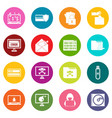 criminal activity icons many colors set vector image vector image