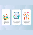 diet mobile app onboarding screens template vector image vector image
