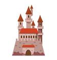 fairytale castle icon cartoon style vector image vector image