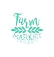 Farm Market Vintage Emblem vector image vector image