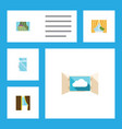 flat icon frame set of curtain cloud glass frame vector image