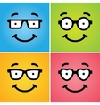 Funny geek faces vector image vector image