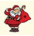Funny Santa Claus sticker label vector image vector image