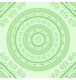 Green Circle Lace Ornament vector image vector image