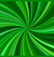 green hypnotic abstract spiral stripe background vector image vector image
