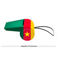 Green Red and Yellow Stripes on Cameroon Whistle vector image