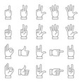 hands gestures icon set vector image