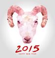 happy goat year polygon vector image