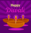 happy indian divali concept background flat style vector image vector image