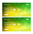 header of landing page with green and yellow vector image