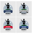 hockey club logo design artwork a female vector image vector image