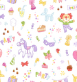 kids party seamless pattern vector image vector image