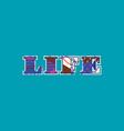 life concept word art vector image