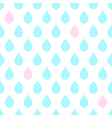 Light Blue Pink Water Drops White Background vector image vector image