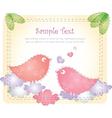 love birds card vector image