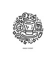 magical icons in round logo vector image vector image