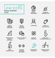 Medical Equipment - line design pictograms set vector image vector image