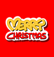 Merry Christmas logo vector image