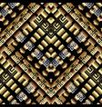 modern geometric greek key meanders 3d seamless vector image vector image