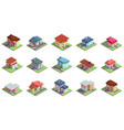 modern isometric suburban country residential vector image vector image