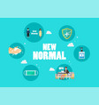 new normal lifestyle icons concept vector image
