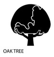 oak tree icon simple style vector image