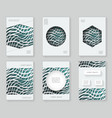 paper waves 3d over design template colorful vector image vector image