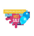 premium quality total sale hot price promo sticker vector image vector image