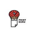 print guru logo vector image vector image