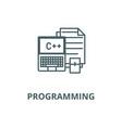 programmingcodingnotebook line icon vector image vector image