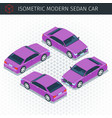 purple sedan car vector image