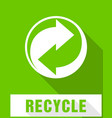 recycle symbol sign of recycled material vector image vector image