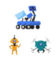 robot and factory icon vector image