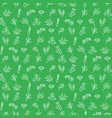 seasoning icons seamless green pattern vector image vector image