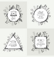set graduating lettering icons vector image