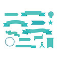 set of ribbons modern flat icons in vector image vector image