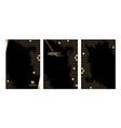 set vertical modern honeycomb black background vector image