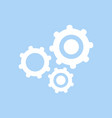 settings icon white settings icon isolated on vector image